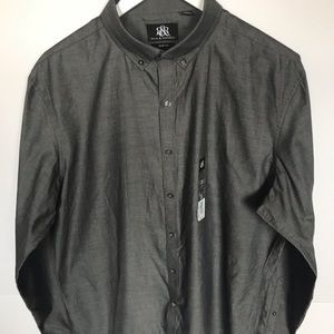 Rock & Republic Slate Gray button down shirt NWT